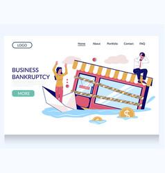business bankruptcy website landing page vector image
