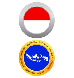 Button as a symbol INDONESIA vector