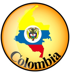 button Colombia vector image