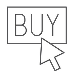 Buy now thin line icon shopping and commerce buy vector