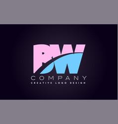 Bw alphabet letter join joined letter logo design vector