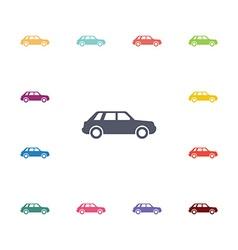 car flat icons set vector image