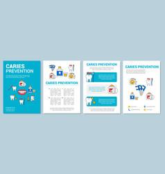 Caries prevention brochure template layout vector