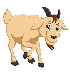 Cartoon goat character vector image