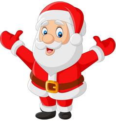 cartoon happy santa claus waving vector image