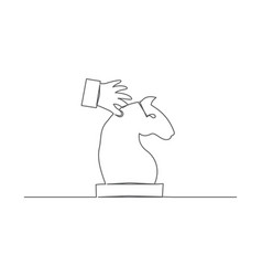 chess one line drawing vector image