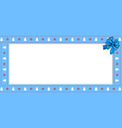 christmas or new year rectangle border frame vector image
