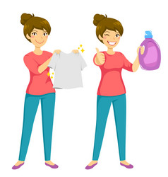 Clean laundry vector