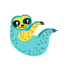 Cute cartoon sloth icon vector