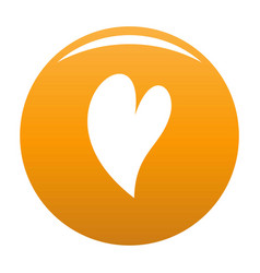 Deaf heart icon orange vector