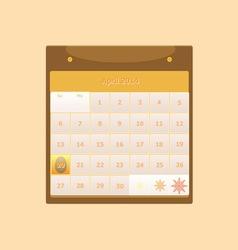Design schedule monthly april 2014 calendar vector image