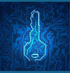 Electronic key vector