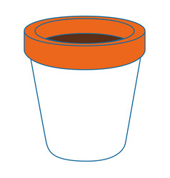 Empty plant pot vector