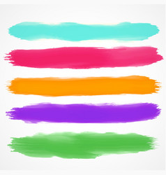 Five brushes set of watercolor stain vector