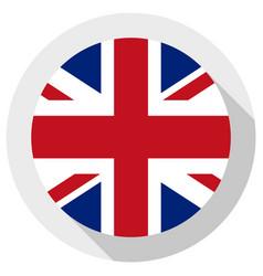 Flag united kingdom great britain round vector