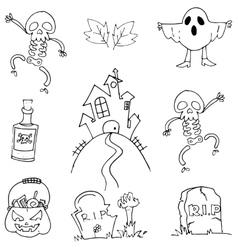 Flat doodle Halloween element vector image