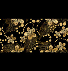 floral seamless pattern in eastern style flower vector image