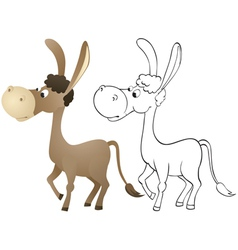 Fun cartoon donkey vector image
