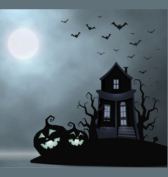 ghost old house mister place halloween vector image