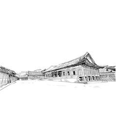 gyeongbokgung gyotaejeon seoul vector image
