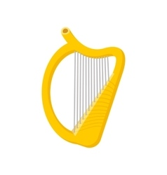 Harp cartoon icon vector