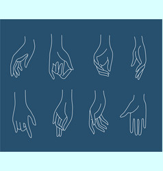 icon and logo female beauty hand vector image