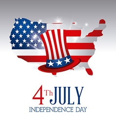 independence day card design vector image