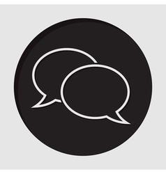information icon - outline speech bubbles vector image