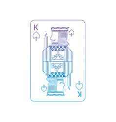 King of spades french playing cards related icon vector