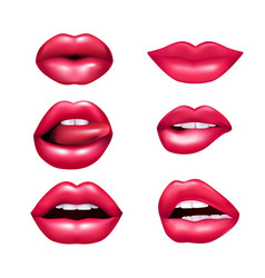 lips mimic set vector image
