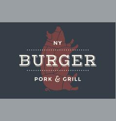 Logo burger bar vector