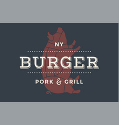 Logo of burger bar vector