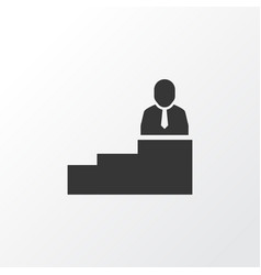 Man on top icon symbol premium quality isolated vector