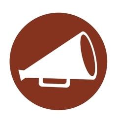 megaphone director film icon vector image