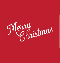 merry christmas greeting banner white lettering vector image