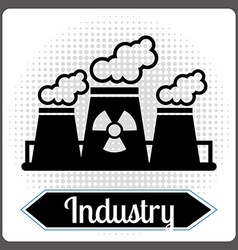 Nuclear industry vector
