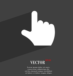 pointing hand icon symbol Flat modern web design vector image