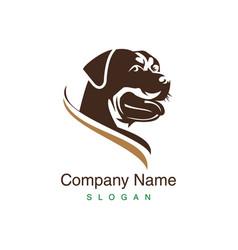 rottweiler logo vector image