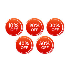 round discount label for sales with different vector image