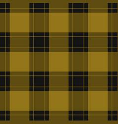 Seamless black yellow tartan with yellow stripes vector