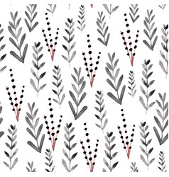 Seamless floral pattern with watercolor branches vector