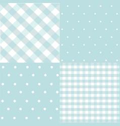 set of baby boy seamless dots polka patterns vector image
