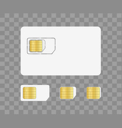 sim card for mobile with chip simcard vector image