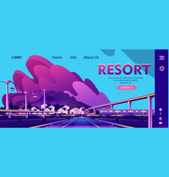 small resort town vector image