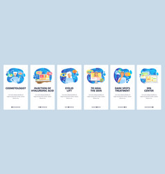 spa center website and mobile app onboarding vector image