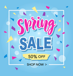 Spring sale banner template vector