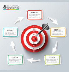 Target with dart for infographic vector