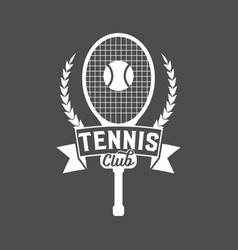 tennis sports logo label emblem design elements vector image