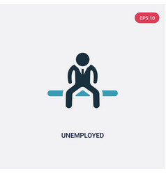 Two color unemployed icon from insurance concept vector