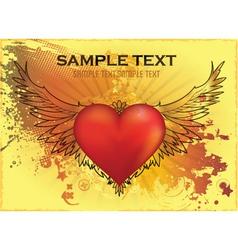 valentine grunge background vector image vector image